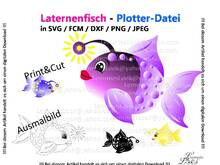 Plotterdatei Laternenfisch