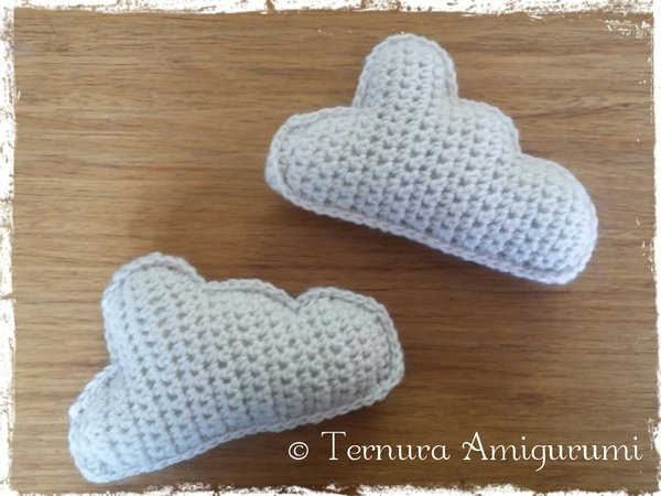 Crochet pattern cloud pdf ternura amigurumi  english- deutsch- dutch