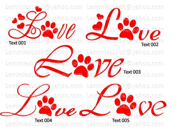Plotterdatei DogLove-Set