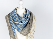 Knitting Pattern Shawl Friesenblau