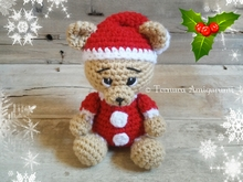 Haakpatroon Nick, de kerstbeer pdf ternura amigurumi english- deutsch- dutch