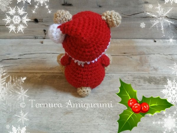 Crochet pattern Nick, the christmas bear pdf ternura amigurumi english- deutsch- dutch