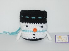 Snowman Pouch-Crochet Pattern PDF- English