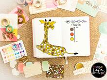 Mood Tracker Giraffe Printable Bullet Journal