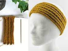 Strickanleitung Stirnband Golden Wheat Band (rund gestrickt)
