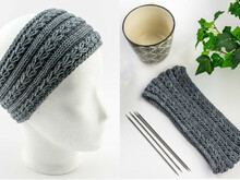 Knitting Pattern Headband Silver Wheat Band