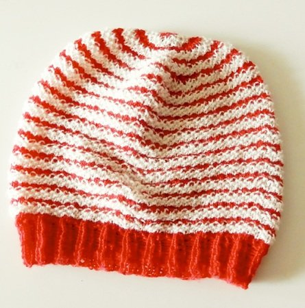 "Hat and scarf set ""Stripes"", 2 knitting patterns"