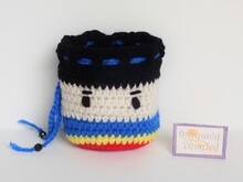 Superboy Pouch- Crochet Pattern PDF- English