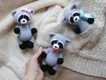 Crochet pattern Amigurumi little raccoon