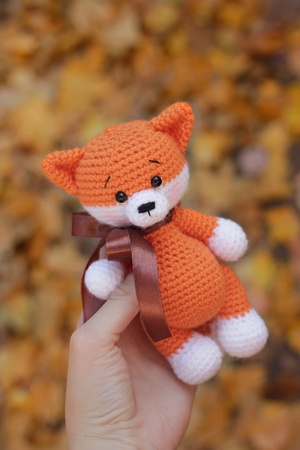 Amigurumi crochet pattern 2 in 1 Raccoon + Fox