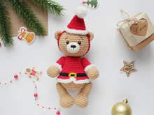 Crochet pattern Santa the bear amigurumi