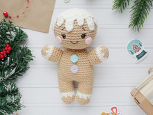 Crochet pattern Amigurumi gingerbread man