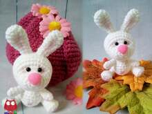 224 Crochet Pattern - Little Bunny with a flower house - Amigurumi PDF file by Knittoy CP