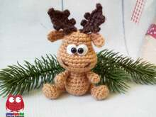 228 Crochet Pattern - Alfred the Moose - Amigurumi PDF file by Knittoy CP