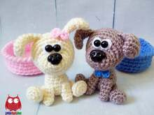 229 Crochet Pattern - Little puppy - Amigurumi PDF file by Knittoy CP