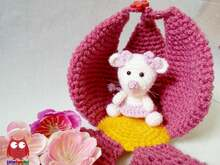 230 Crochet Pattern - Little Mouse with a Flower House - Amigurumi PDF file by Knittoy CP