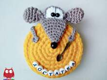 233 Crochet Pattern - Rat or Mouse with a Cheese - Amigurumi PDF file by Knittoy CP