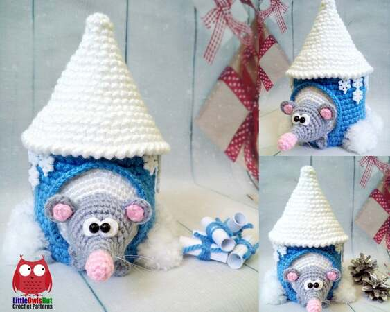 Lisa the crochet mouse - A free crochet pattern. Yarnhild.com | 450x563