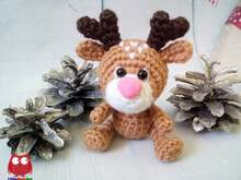 237 Crochet Pattern - Little Deer Rudolf - Amigurumi PDF file by Knittoy CP