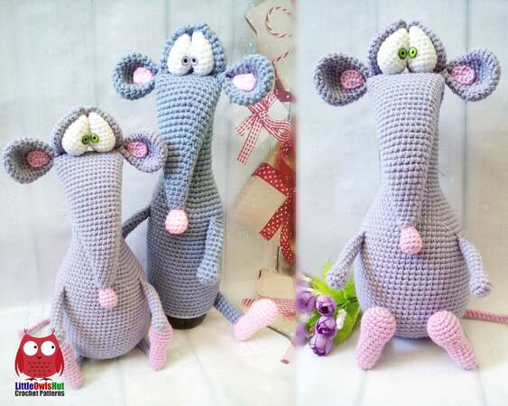 Morris the Mouse Free Crochet Pattern...hehehe I had to pin this ... | 450x563