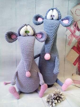 Ravelry: Fancy rats pattern by Kati Galusz | 450x337