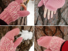 Fingerless Gloves with Flaps, Mittens with Flaps