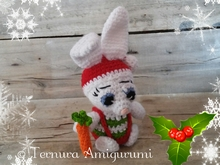 Haakpatroon Alex, het kerstkonijn PDF ternura amigurumi, english- deutsch- dutch