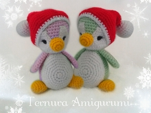 crochet pattern Christmas penguin 18cm PDF ternura amigurumi english- deutsch- dutch