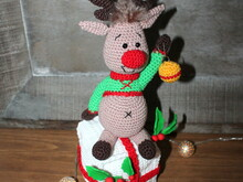 Eddie the christmas reindeer crochet pattern