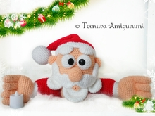 haakpatroon van de kerstman PDF ternura amigurumi English- deutsch- dutch