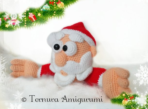 Häkelanleitung Weihnachtsmann  PDF ternura amigurumi English- deutsch- dutch
