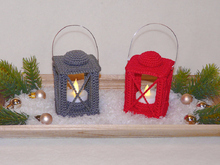 Crochet Pattern little Lantern, Tealight holder