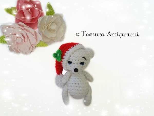 Sweet bear Christmas Crochet Pattern PDF ternura amigurumi english- deutsch- dutch