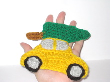 Christmas car applique