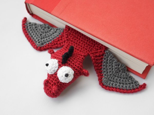 Amigurumi Crochet Dragon Bookmark
