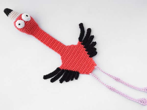 Amigurumi Crochet Flamingo Bookmark