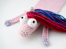 Amigurumi Crochet Horse & Unicorn Bookmark