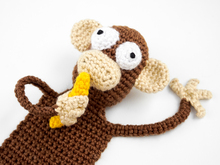 Amigurumi Crochet Monkey Bookmark