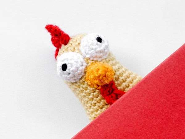 Amigurumi Crochet Chicken Bookmark