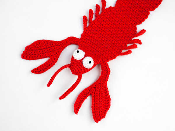 35+ Inspired Crochet Lobster Pattern - crochetnstyle.com | 450x600