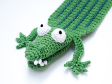 Amigurumi Crochet Crocodile Bookmark