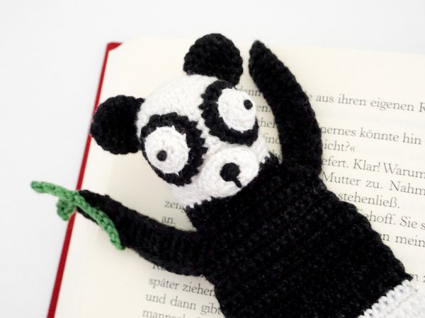 Amigurumi Crochet Panda Bookmark