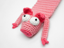 Amigurumi Crochet Pig Bookmark