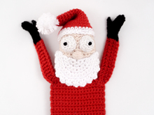 Amigurumi Crochet Santa Claus Bookmark
