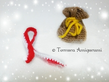 Crochet pattern of penguin accessories (scarf + bag) PDF ternura amigurumi english- deutsch- dutch