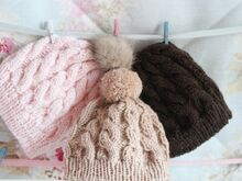 Dolls Cable Hat Knitting Pattern