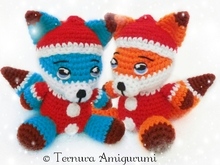 Crochet pattern Rocco, the Christmas Fox 15cm PDF ternura amigurumi english- deutsch- dutch