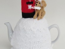 Dog Posting a Letter Tea Cosy Knitting Pattern