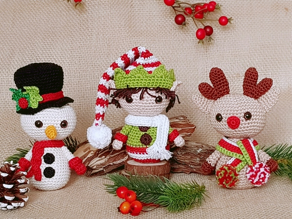 Free amigurumi pattern - Little Christmas elf | lilleliis | 450x600