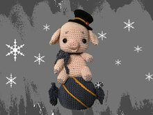 Lucky pig - Candy New Year´s decoration Pattern Amigurumi